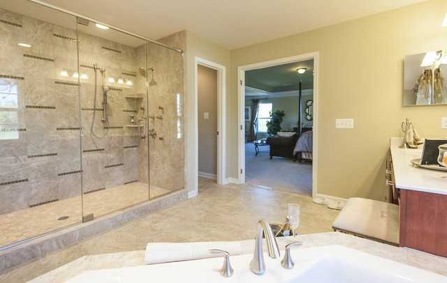 Model home master bathroom in md traditional bathroom for Bathroom models images