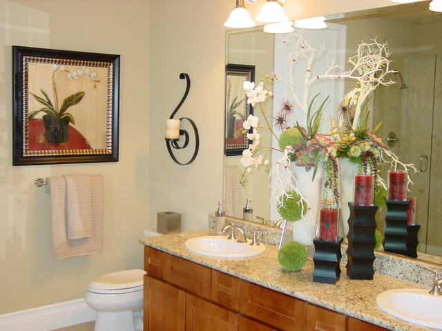 Model homes bathroom las vegas by insidestyle home for Model home bathroom photos
