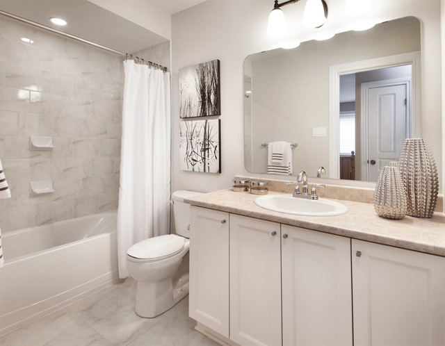 model homes transitional bathroom ottawa by tartan On model bathrooms pictures