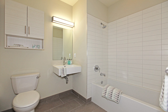 Model Units In Jersey City Modern Bathroom New York By Personal Space Interior Design