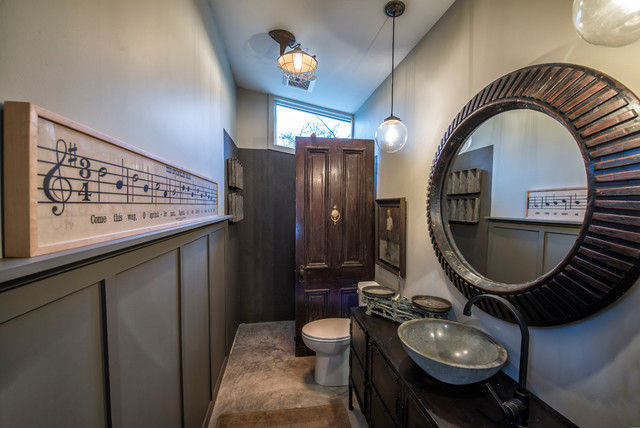 Industrial Bathroom by Monticello Homes & Development