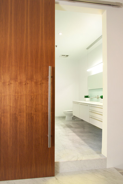 Wonderful Modern Barn Doors Modern Bathroom Good Looking