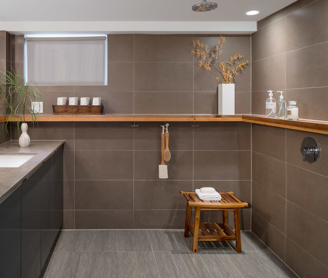 Modern Basement Apartment Eclectic Bathroom Toronto By Smith And Clar