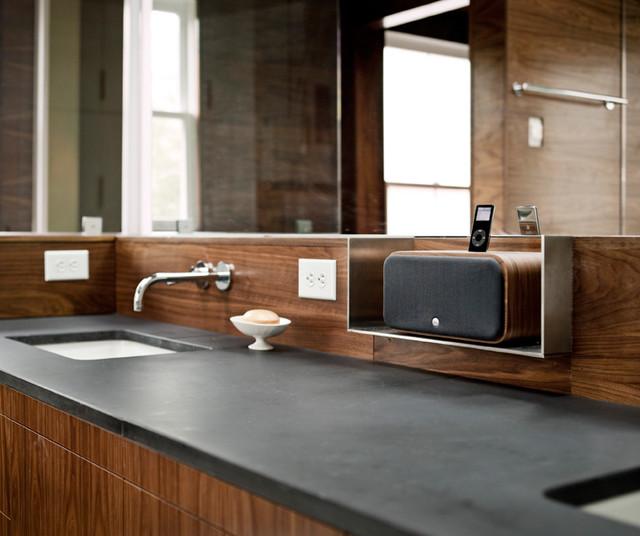 Bathroom moderno stanza da bagno di alloy workshop - Stanze da bagno moderne ...