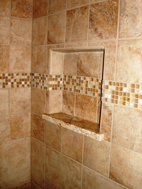 Tile Shower Modern Bathroom Cleveland By