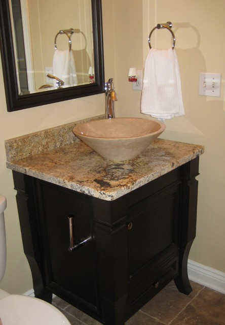 Powder room vanity modern bathroom cleveland by - Powder room sink ideas ...