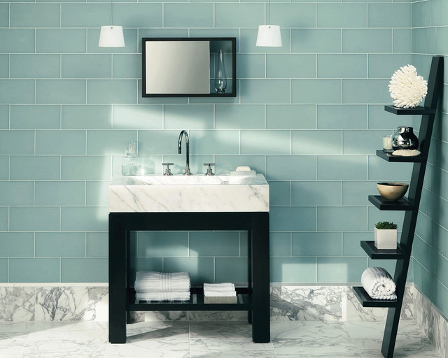 Ceramic Tile modern-bathroom