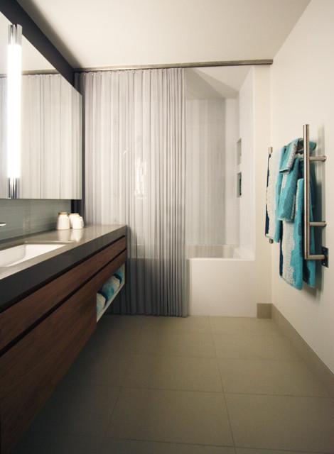 Minimalist Condo Bathroom Modern Bathroom Portland By Bright Designlab