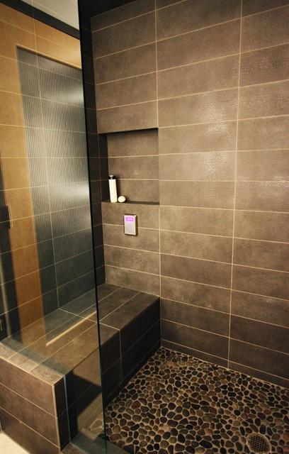 Dramatic modern bathrooms modern bathroom portland for Dramatic bathroom designs