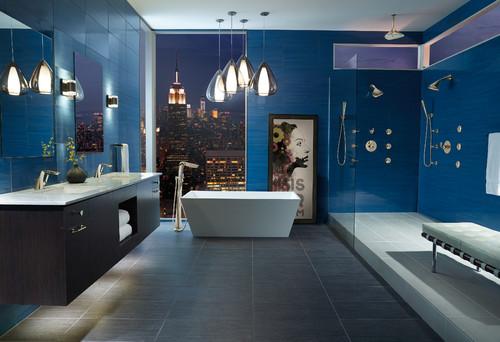 Bagni Blu Mosaico : Mosaico da interno da cucina da parete in ceramica styling