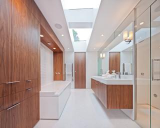 Golden valley mid century remodel modern bathroom for Bathroom remodel minneapolis