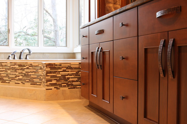 Maple Wood Cabinets In Bathroom Remodel Contemporary