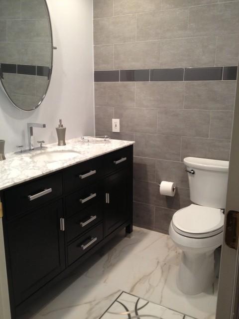 Modern Design Bathroom Tiles : Modern bathroom contemporary new york by