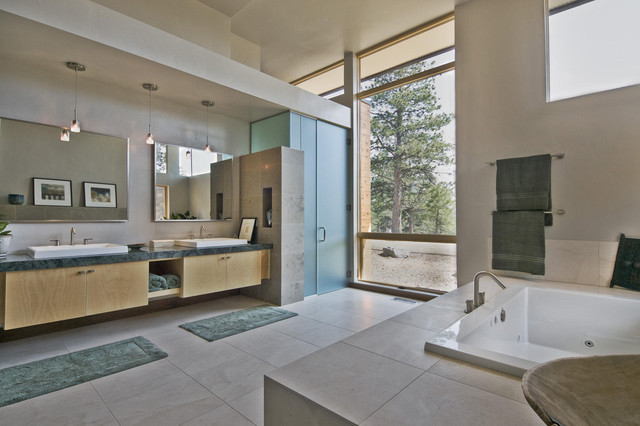 The Evergreen House modern bathroom