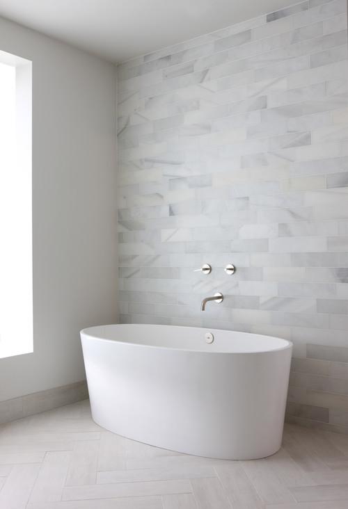 Ceciliehaukland inspirasjon bad for Modern white bathroom designs