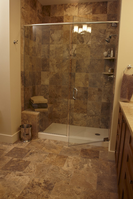 Storm Honed Travertine - modern - bathroom - st louis - by Global ...
