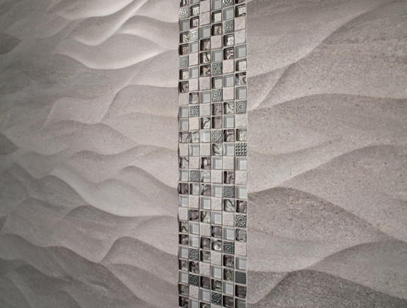 Textured Ceramic Tile Modern Bathroom by Porcelanosa USA