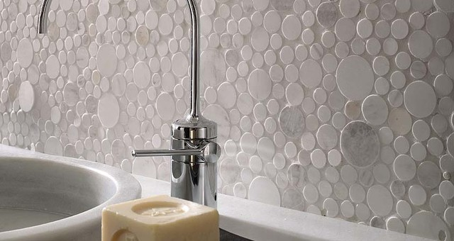Porcelanosa Mosaico Moon wall tiles modern-bathroom