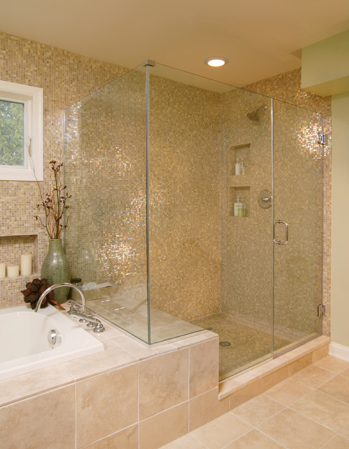 How Slippery Are The Glass Mosaic Tiles On The Shower Floor ?