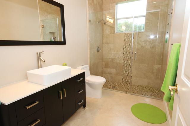 Modern bathroom remodel for Bathroom remodel questions