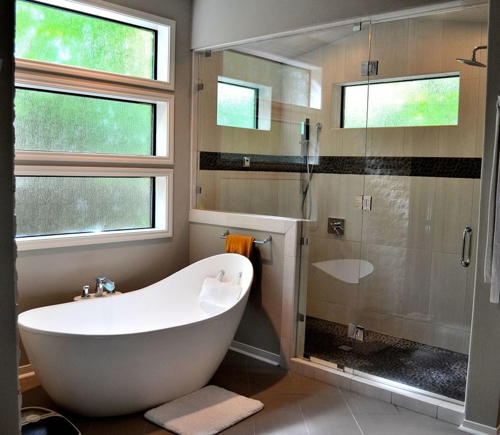 modern bathroom remodel - Contemporary - Bathroom - Austin ...