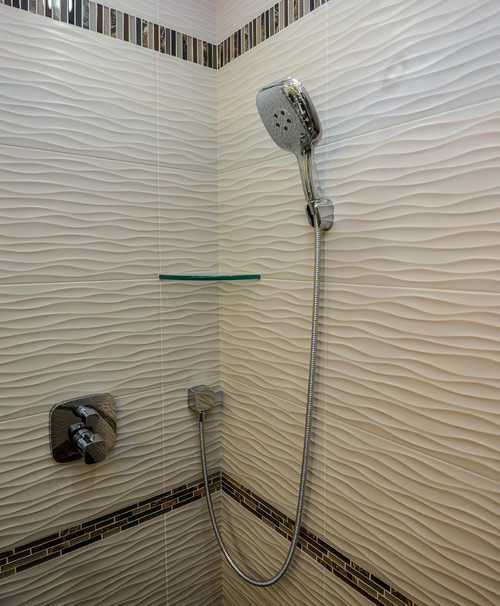 Shower Fittings On Wavy Tile