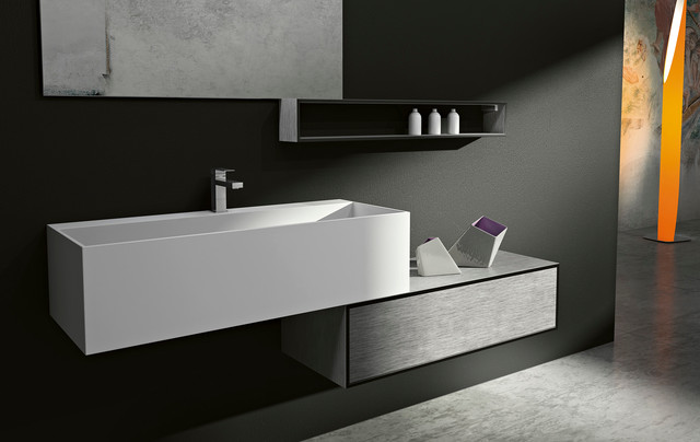 Modern bathroom vanities cubik in san diego moderne salle de bain san diego par bkt loft for Bathroom vanities san diego