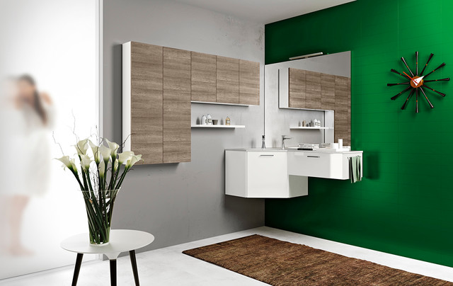 Modern Bathroom Vanities Moon In San Diego Modern Bathroom San Diego By Italian Kitchen