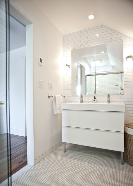 Modern bathroom vanity modern bathroom louisville by rock paper hammer - Ikea bathrooms images ...