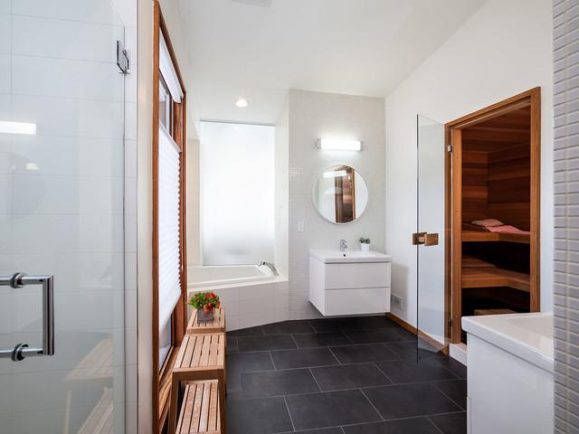 Photographers Modern Bathroom With Sauna Contemporary
