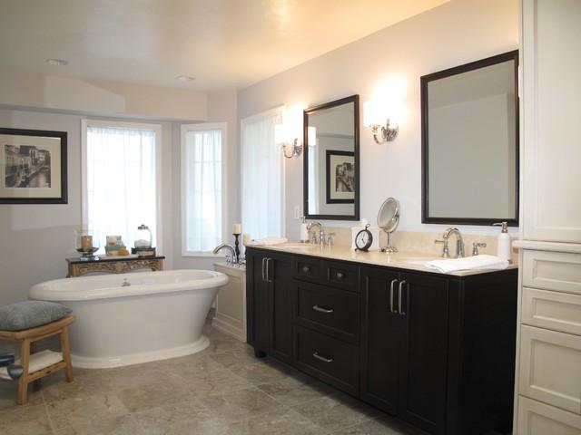 Traditional Modern Bathrooms modern bathroom with traditional twist - traditional - bathroom