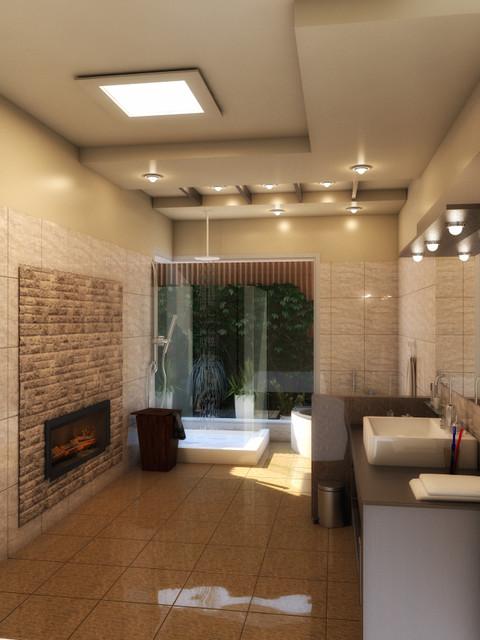 Modern baths modern bathroom chicago by amer adnan for Modern building design bath