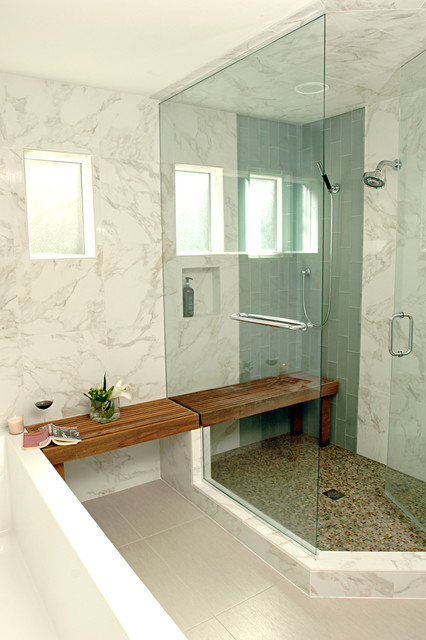 Modern Bayou Master Bath Transitional Bathroom By