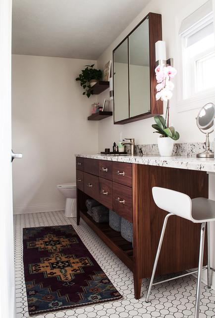 Modern Bohemian Bedroom and Bathroom - Eclectic - Bathroom ...