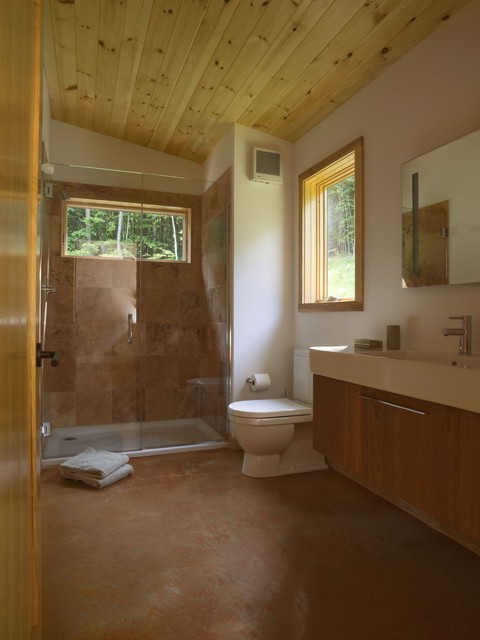 Modern Cabin Contemporary Bathroom Burlington By Joan Heaton Architects
