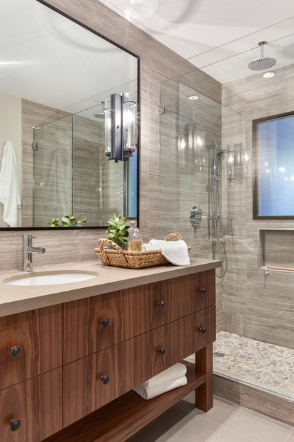 Modern Chalet North Vancouver Design Renovation Transitional Bathroom Vancouver By