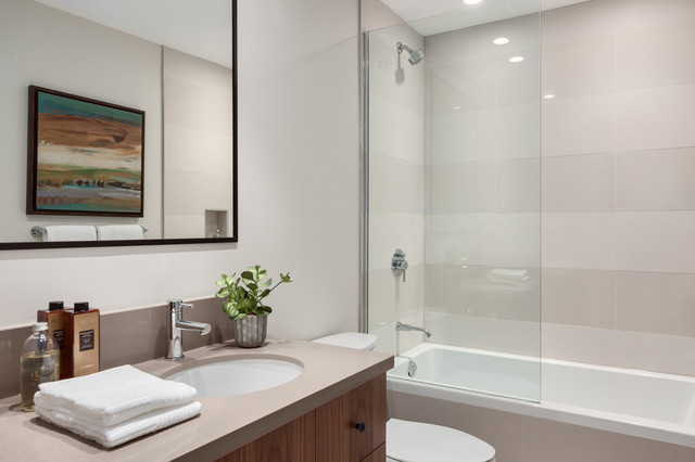 Urban Chalet North Vancouver Design Renovation Transitional Bathroom Vancouver By
