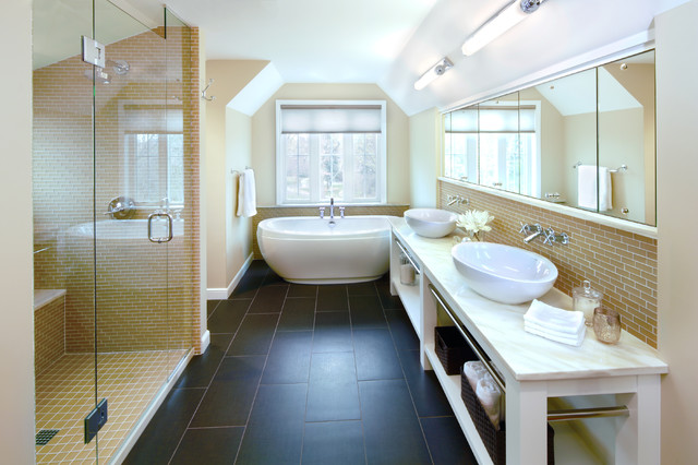 Modern Classic Traditional Bathroom Minneapolis By Digiacomo Homes Renovation