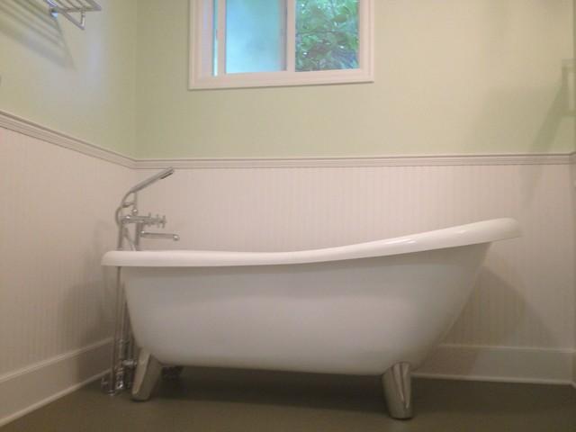 Charming Modern Clawfoot Tub Remodel Traditional Bathroom