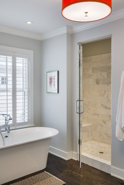 Modern Colonial Four Square Transitional Bathroom Minneapolis By Charlie Co Design Ltd