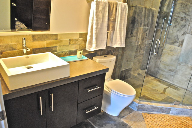 Modern Condo Master Bath Modern Bathroom Atlanta By Berry Design Build