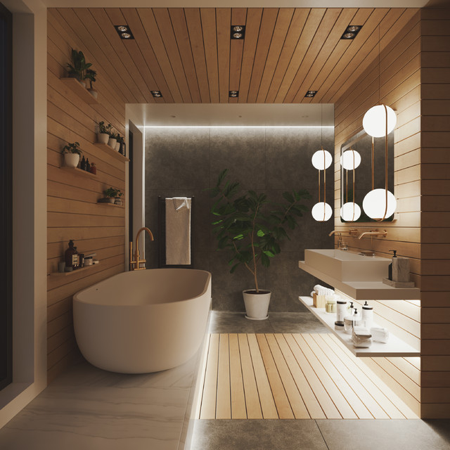 Modern Contemporary Bathroom Mood