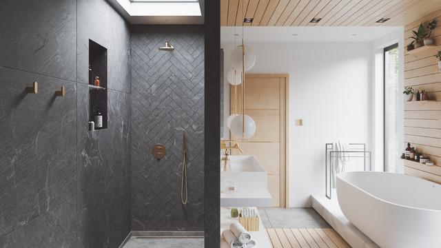 Modern Contemporary Bathroom Walk In