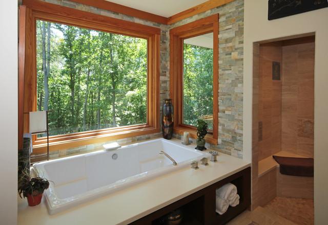 Modern Contemporary Post and Beam Home contemporary-bathroom