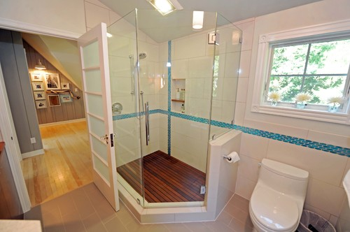 Diy removable cedar shower floor mat for Bathroom ideas 8x8
