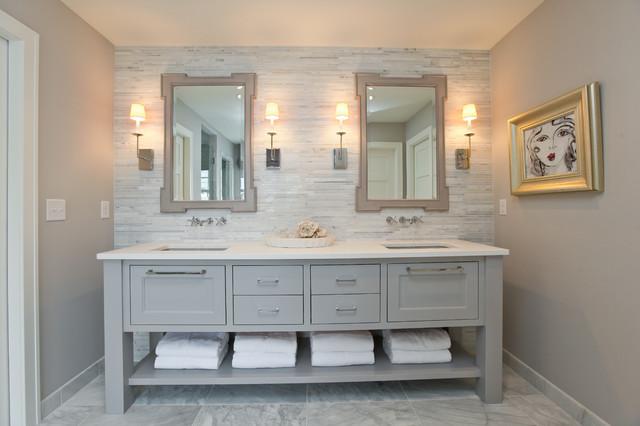 Tiled Bathroom Vanity bathroom design: getting tile around the vanity right