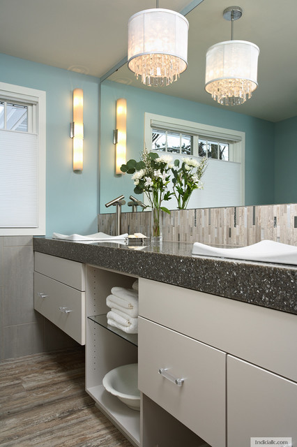 Modern Cottage Contemporary Bathroom Minneapolis