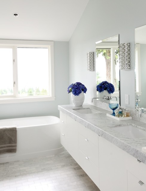 Modern Cottage Contemporary Bathroom Vancouver By Lael O 39 Brien Design