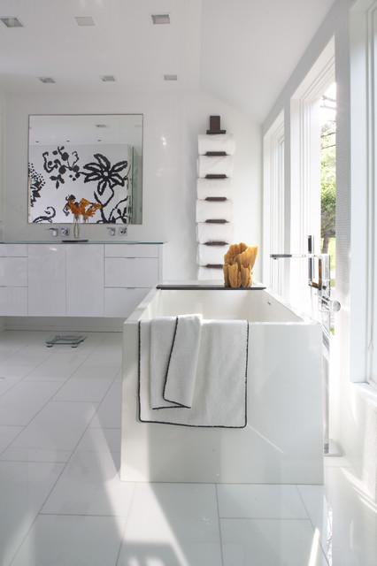 Modern Cottage Contemporary Bathroom Minneapolis