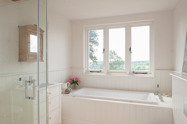 Modern country house modern bathroom kent by nw for Bathroom designs kent